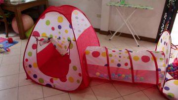 Счастливое детство в домике-палатке!
